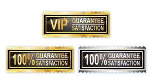 Timbre de satisfaction de 100 garanties Photo libre de droits