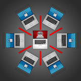 garantie de réseau Image stock