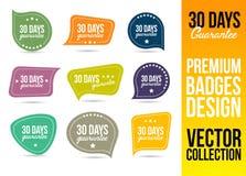 Garantie Logo Badge Emblem de 30 jours Photographie stock