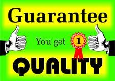 Garantie-Qualität lizenzfreie stockfotografie