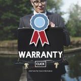 Garantie-Qualitätskontrollgarantie-Zufriedenheits-Konzept Stockbild
