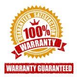 Garantie Rubberzegel Stock Afbeelding