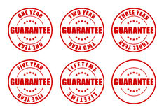 Garantie-Stempel-Ansammlung Stockfotos