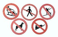 garantie sur la pente de ski Photos libres de droits