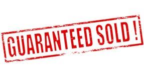 Garantiert verkauft lizenzfreie abbildung