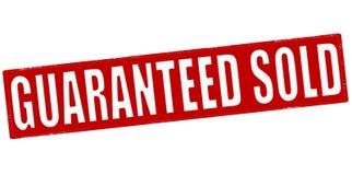 Garantiert verkauft stock abbildung