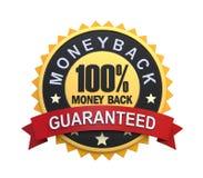 Garantierter Aufkleber mit Goldabzeichen-Zeichen Lizenzfreie Stockfotos