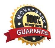 Garantierter Aufkleber mit Goldabzeichen-Zeichen Stockfoto