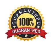 Garantierter Aufkleber mit Goldabzeichen-Zeichen Stockfotos