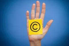 Garantissez les droits d'auteur le symbole photo libre de droits