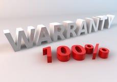 Garanzia 100% Fotografia Stock Libera da Diritti