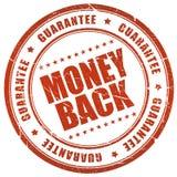 Garanzia della parte posteriore dei soldi Fotografie Stock