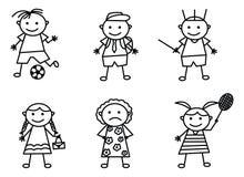 Garatuja Art Set With Various Activities ilustração do vetor