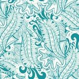 Garatuja azul e branca do teste padrão Imagem de Stock Royalty Free