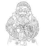 Garatuja bonito da cidade do conto de fadas do Natal do vetor Fotografia de Stock Royalty Free