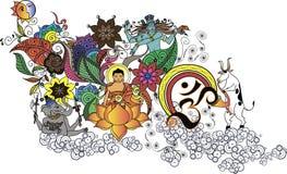Garatuja da Buda Imagens de Stock