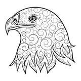 Garatuja da cabeça de Eagle Foto de Stock