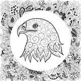 Garatuja da cabeça de Eagle Fotografia de Stock Royalty Free