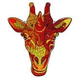Garatuja da cabeça do girafa Ilustração do Vetor