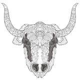 Garatuja da cabeça dos iaques com nariz preto Ilustração Royalty Free