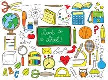 Garatuja da escola Imagem de Stock Royalty Free
