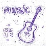 Garatuja da guitarra Imagem de Stock Royalty Free