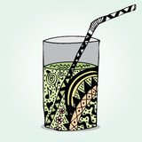 Garatuja de vidro ilustração royalty free