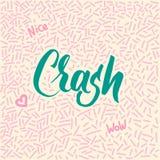 garatuja desenhado à mão da Linha-arte com impacto moderno da palavra da caligrafia! Foto de Stock
