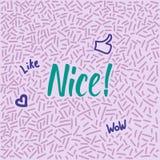garatuja desenhado à mão da Linha-arte com a palavra moderna da caligrafia agradável! Imagem de Stock Royalty Free
