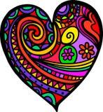 Garatuja do coração do amor ilustração do vetor