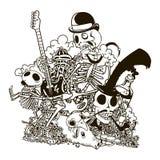 Garatuja do crânio Ilustração do vetor Imagem de Stock