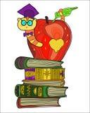 Garatuja do leitor ávido Ilustração Royalty Free