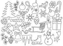 Garatuja dos bens do Natal Ilustração Stock
