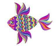 Garatuja dos peixes Fotos de Stock Royalty Free