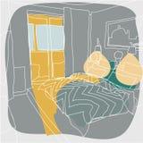 Garatuja interior contemporânea Ilustração Royalty Free