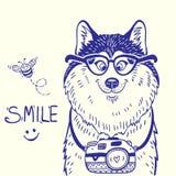 Garatuja ronca do sorriso Imagem de Stock Royalty Free