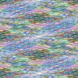 Garatuja tirada com lápis colorido Fotografia de Stock Royalty Free