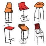 Garatujas contemporâneas da mobília Ilustração Stock