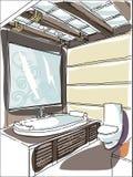 Garatujas contemporâneas do interior Ilustração do Vetor