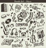 Garatujas da música ilustração stock