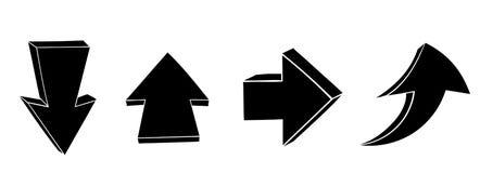 Garatujas da seta Para cima e para baixo sinais pretos ilustração royalty free
