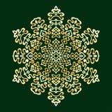 Garatujas desenhados à mão floco de neve, inclinação metálico da cor Fotografia de Stock Royalty Free