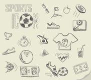 Garatujas do futebol Fotografia de Stock