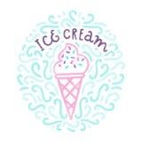 Garatujas do gelado Imagens de Stock