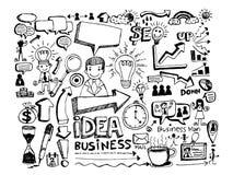 Garatujas do negócio da garatuja da mão ilustração stock