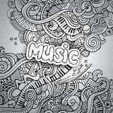 Garatujas esboçado do caderno da música. Imagens de Stock