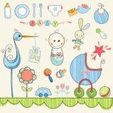 Garatujas pequenas do bebê Imagens de Stock