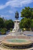 Garay Square in Szekszard. Garay square, the centre of Szekszard, Hungary with the statue of Janos Garay Stock Photo