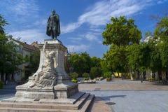Garay Square in Szekszard. Garay square, the centre of Szekszard, Hungary with the statue of Janos Garay Royalty Free Stock Photos