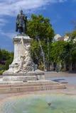 Garay Square in Szekszard. SZEKSZARD, HUNGARY - SEPTEMBER 10. 2016 - Garay square, the centre of Szekszard, Hungary with the statue of Janos Garay Stock Image